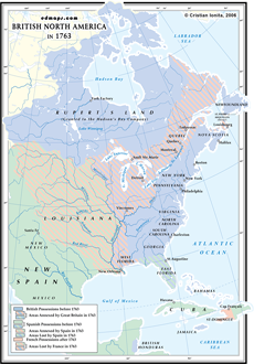 Map Of North America 1763.Historical Maps Of Canada