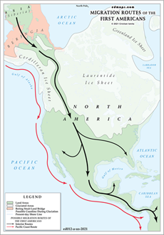 Migration Routes Of The First American Peoples A