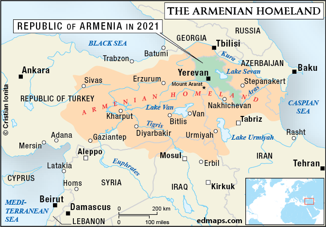 map of armenia and turkey Armenian Question In Seven Maps map of armenia and turkey
